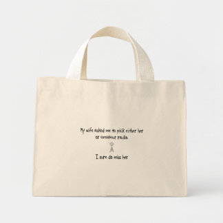 Pick Wife or Amateur Radio Tote Bags