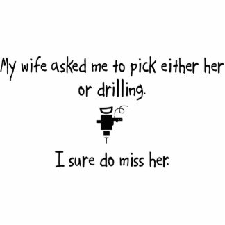 Pick Wife or Drilling Photo Sculpture Ornament