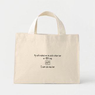 Pick Wife or MBA-ing Canvas Bag