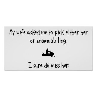 Pick Wife or Snowmobiling Posters