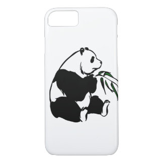 Pick Your Background Color Panda Eating Bamboo iPhone 7 Case