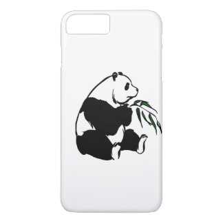 Pick Your Background Color Panda Eating Bamboo iPhone 7 Plus Case
