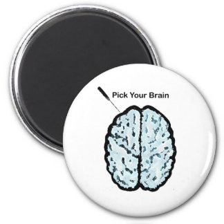 Pick Your Brain: Ice Pick 2 Inch Round Magnet