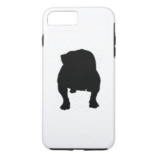 Pick Your Color Chevron Bulldog Silhouette iPhone 7 Plus Case