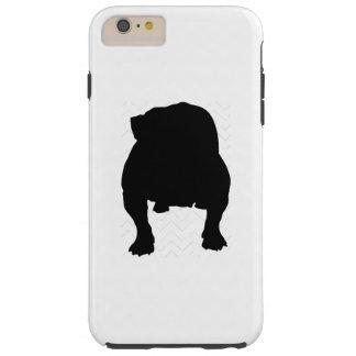 Pick Your Color Chevron Bulldog Silhouette Tough iPhone 6 Plus Case