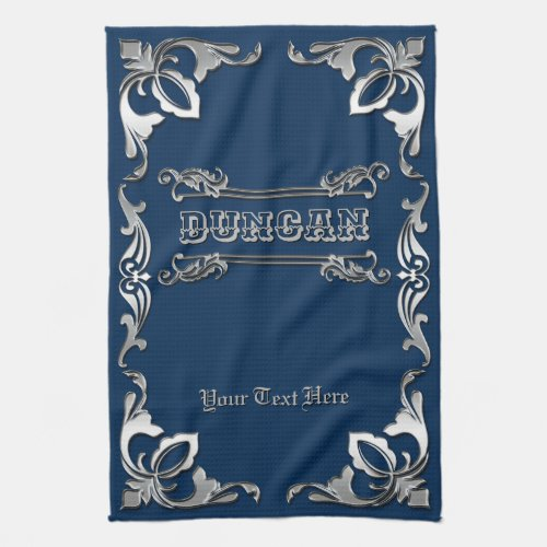Pick Your Color Classic Book Cover Silver Ornament Hand Towel