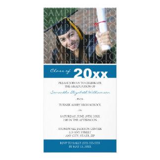 Pick YOUR Color Custom Graduation Announcement Photo Card