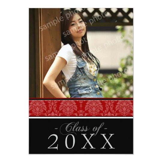 Pick YOUR Color Damask 5x7 Graduation Announcement