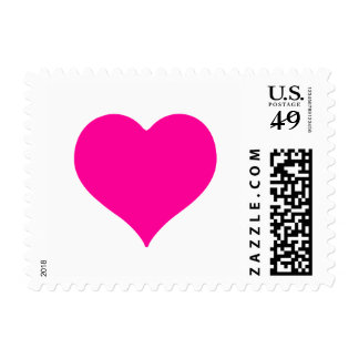 Pick Your Color for This Heart Postage Stamps