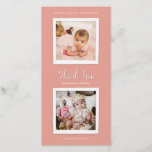 """Pick Your Color Photo Thank You Card<br><div class=""""desc"""">Baby or child&#39;s birthday photo thank you card with vintage photo borders. Choose any background color to match your event and upload your photos. Click Customize it to use the eyedropper tool, &quot;advanced&quot; to pick any color in the spectrum. You can also resize and crop your photos with the &quot;Edit&quot;...</div>"""