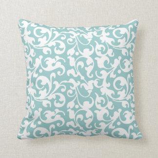 Pick Your Color Renaissance Elegant Scroll Damask Pillow