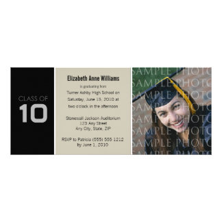 Pick YOUR COLOR Skinny Graduation Invitation
