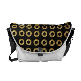 Pick Your Colors with Gold Cirlces Messenger Bag