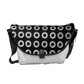 Pick Your Colors with Silver Circles Messenger Bag