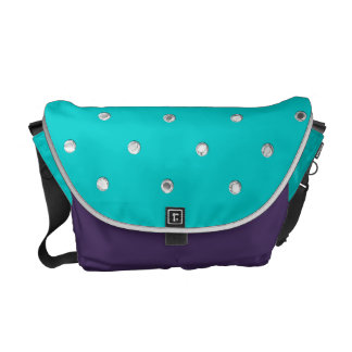 Pick Your Colors with Silver Dots Courier Bag