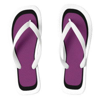Pick Your Colour White/Black Trim Flip Flops