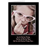 Pick Your Friends/Nose Birthday Greeting Card