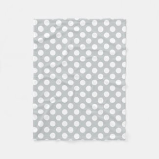 Pick Your Own Background Color w/ White Polka Dots Fleece Blanket