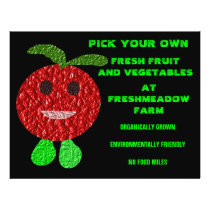 Pick Your Own Fruit and Veg Customizable Flyer