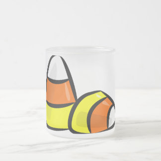 Pick Your Trick Treat Candy Corn Star Sports Team Frosted Glass Coffee Mug