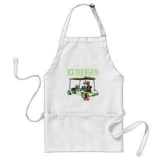 Pick Your Weapon Adult Apron