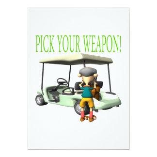 Pick Your Weapon Invites