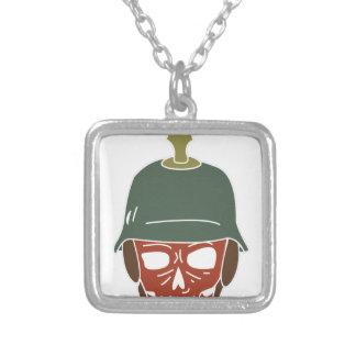 Pickelhaube Helmet Silver Plated Necklace