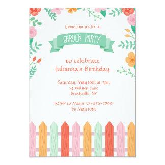 Picket Fence Garden Party Invitation