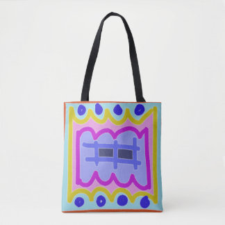 Picket Fence on Purple ~~ abstract and colorful Tote Bag