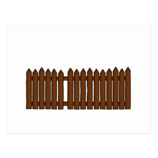 Picket Fence Postcard