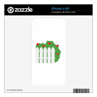 Picket Fence iPhone 4 Decals