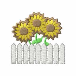 Picket Fence with sunflowers