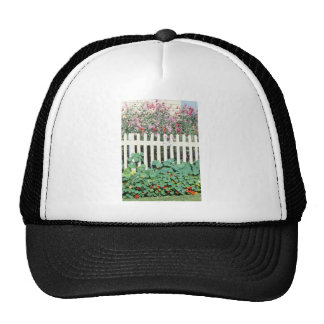 Picket Fence With Sweet Peas And Nasturtium Hats