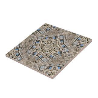 Picket Pentacles Ceramic Tile