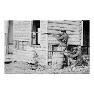 Picket Station of Colored Troops Dutch Gap Canal Posters