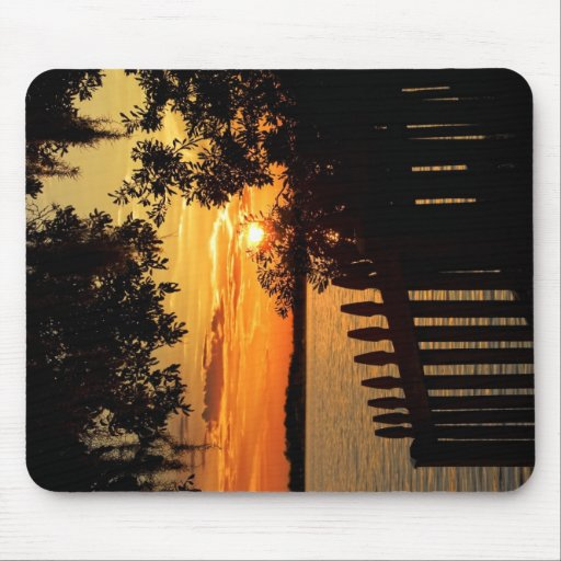 Picket Sunset Mouse Pads