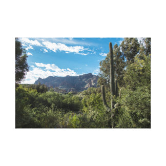 Picketpost Mountain wrapped canvas
