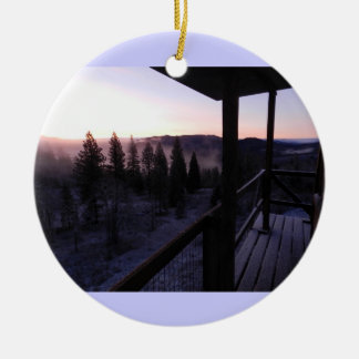 Pickett Butte Fire Lookout Ceramic Ornament