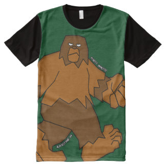 PICKETT MONSTER - Patterson-Gimlin All-Over-Print Shirt