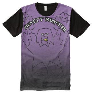 PICKETT MONSTER - Pinch Fade Black Line All-Over-Print Shirt