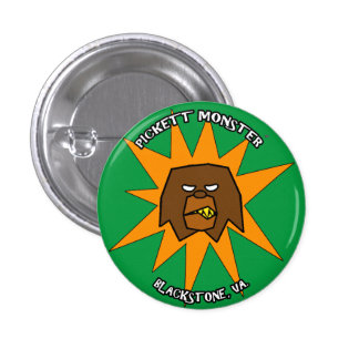 PICKETT MONSTER - STARBURST PINBACK BUTTON