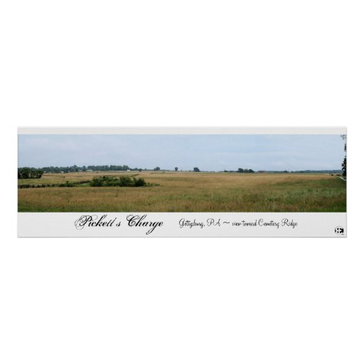 Pickett's Charge Panorama Poster