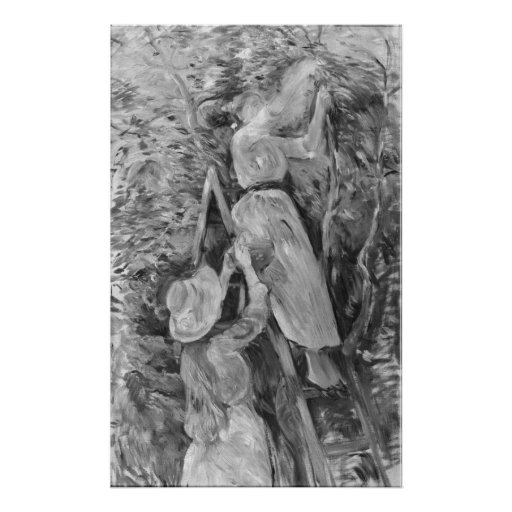 Picking cherries, 1891 poster