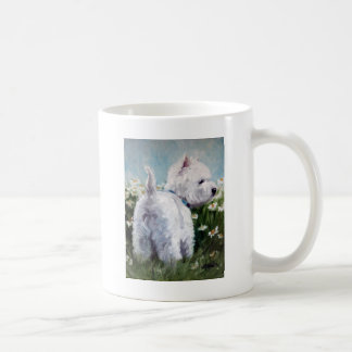 picking daisies coffee mug