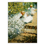 Picking Flowers Greeting Card