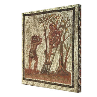 Picking Fruit, Roman Mosaic Canvas Print