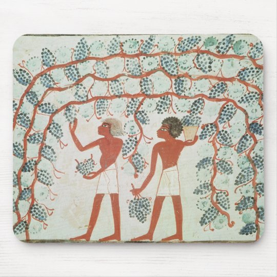 Picking grapes, from the Tomb of Nakht Mouse Pad