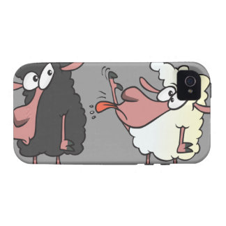 picking on the black sheep cartoon iPhone 4 covers