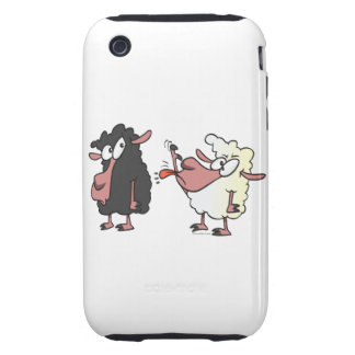 picking on the black sheep cartoon iPhone 3 tough cases
