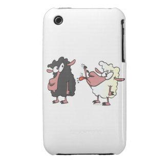 picking on the black sheep cartoon iPhone 3 case